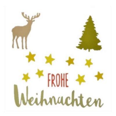 Frohe Weihnachten Schweiz.Thinlits Die Set 5pk Frohe Weihnachten